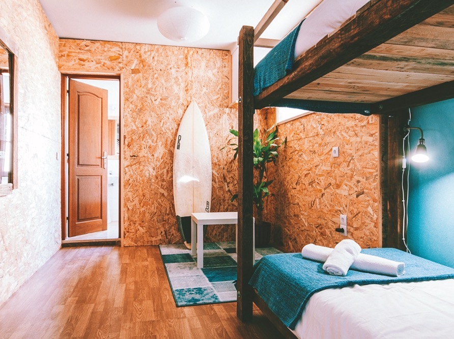 Cozy room in surfstyle with bunkbeds