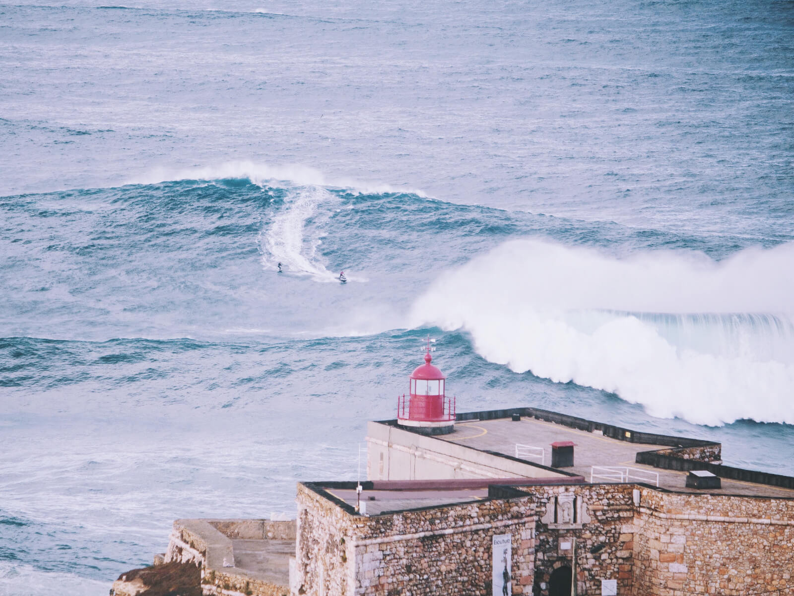 biggest wave in Portugal in Nazare